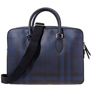Burberry Med. Leather Trim London Check Briefcase